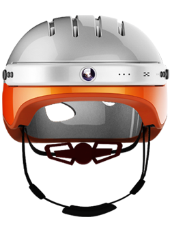 C5 smart helmet featuring HD embedded camera, Bluetooth speaker to answer coming calls and to listen to music, and smartphone app.