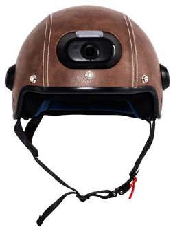 C6 motorcycle helmet is equipped with HD camera, Bluetooth, a caution light in the rear to remind the rear vehicle and pedestrian and app.